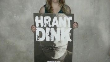 La diseñadora Poli, y su afiche por Hrant Dink