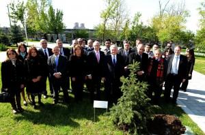 Canciller Timerman y su par armenio junto a diputados argentinos en homenaje a Néstor Kirchner