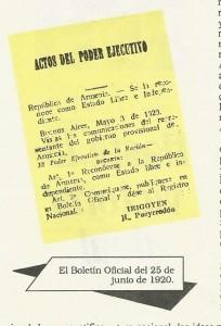Argentina.Decreto de reconocimiento de Armenia. (1)