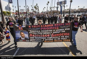 Los Angeles, California, USA. 24th Apr, 2014. Thousands of Armenians march along Hollywood Boulevard to mark the 99th anniversary of the beginning of the Armenian genocide and to call on the Turkish government to recognize the deaths of about 1.5 million
