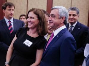 Sarah-Morgenthau-and-President-Sargsyan.