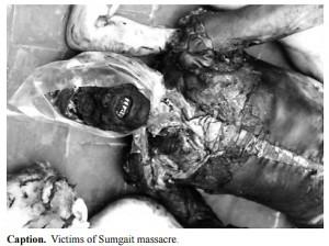 Sumgait-cadaver quemado 1988