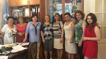 V.Avakian con la Comision Regional de Armenia