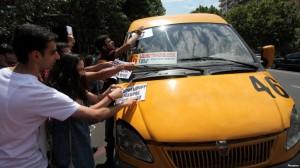 protesta transporte erevan