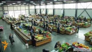 mercado de frutas y verduras Erevan