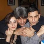 Con mi cuñado y su esposa