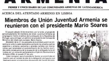 Facsímil de la publicación del Diario ARMENIA
