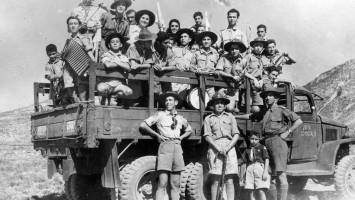 Excursión de scout de Homenetmen Atenas 1946