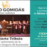 Concierto Tributo del Coro Gomidás