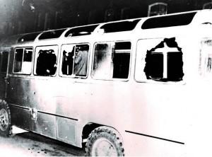 Artsaj autobus armenio destruido