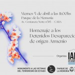 Homenaje a los Detenidos Desaparecidos de origen armenio