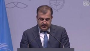 Artak Apitonian en la II Conferencia de Alto Nivel de las Naciones Unidas sobre la Cooperación Sur-Sur