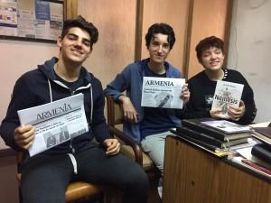 Alumnos del Colegio Armenio Mekhitarista